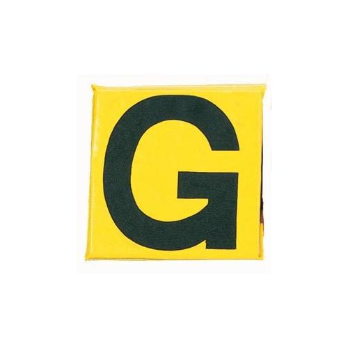 "12"" Sideline Markers - Set of 11 (Black on Yellow)"