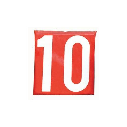 """12"""" Sideline Markers - Set of 11 (White on Red)"""