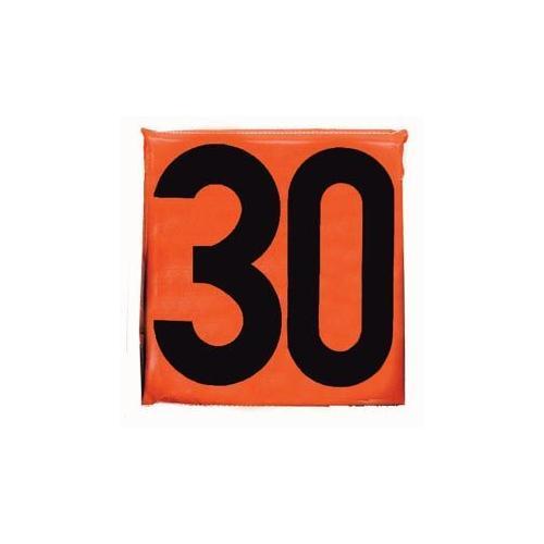"""12"""" Sideline Markers - Set of 11 (Black on Orange)"""