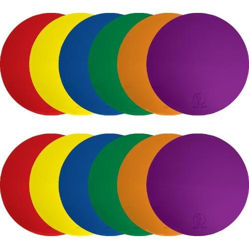 "9"" Poly Spots - Dozen (2 ea. Color)"