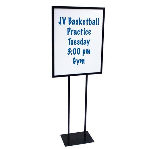 Steel Sign Holder w/ Dry Erase Boards