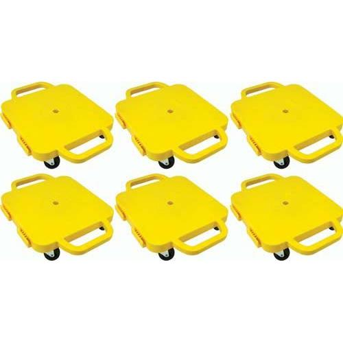"""Curved-Handle Connect-A-Scooters - 12"""" (Set of 6 Yellow)"""