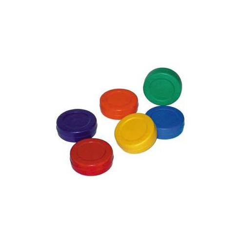 Colored Hockey Pucks (Set of 6)