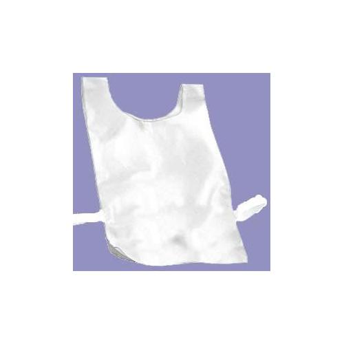 Nylon Plain Pinnies - White