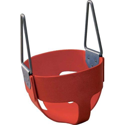 Rubber Enclosed Infant Swing Seat - Red