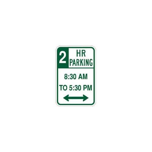 "12"" x 18"" Sign - 2 Hr Parking 8:30 to 5:30"