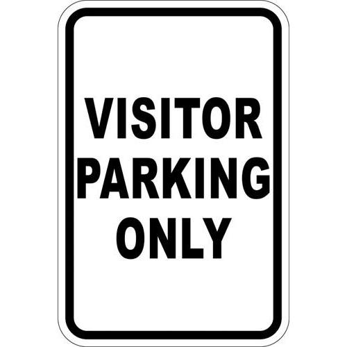 "12"" x 18"" Sign - Visitor Parking Only"