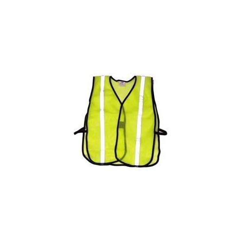 Economy Reflective Mesh Vest - Lime w/ Silver