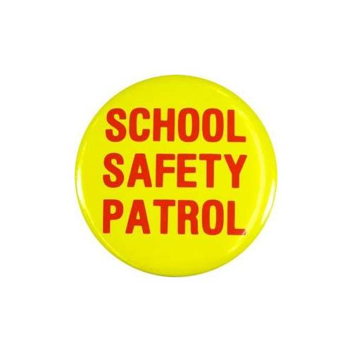 Yellow School Safety Patrol Buttons - ST/12