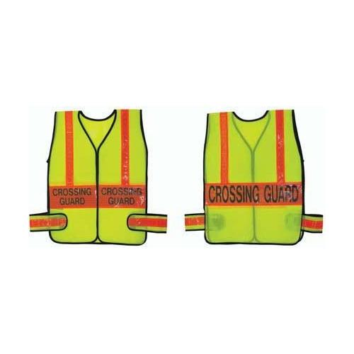 Crossing Guard Vest - Lime w/ Orange (X-Large)