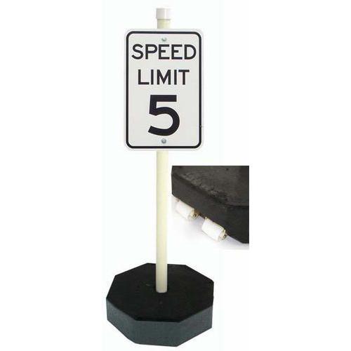 ENVIROform 60 lb. Parking Lot Sign Unit w/ Wheels