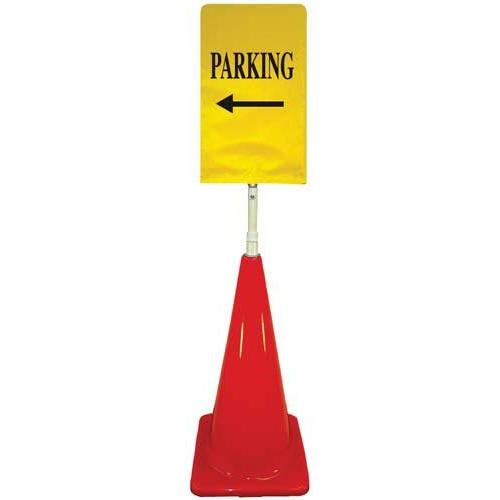 Cone Sign Kit - PARKING (Left Arrow) (yellow)