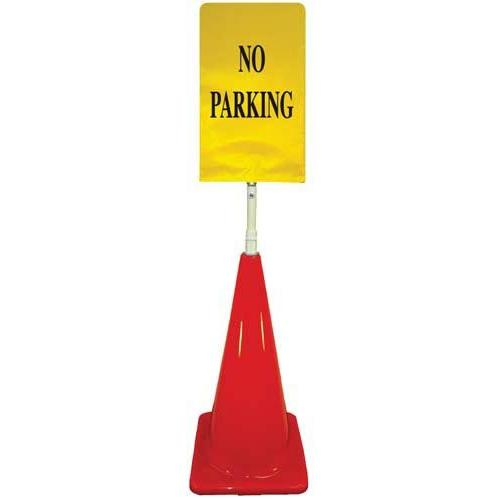 Cone Sign Kit - NO PARKING (yellow)