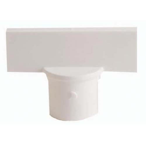 "Stanchion Sign Adapter - 2"" White"