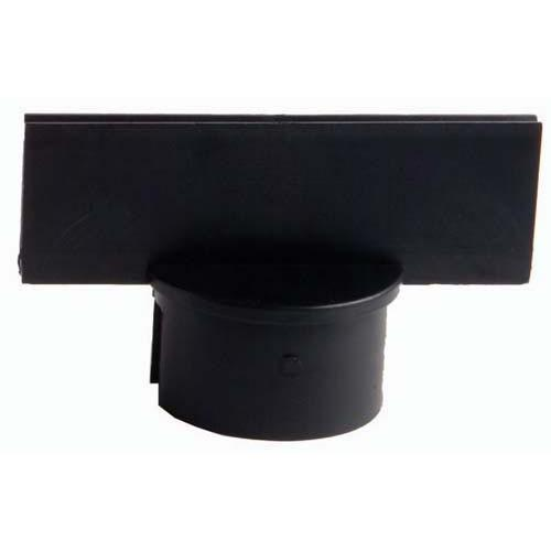 "Stanchion Sign Adapter - 2"" Black"
