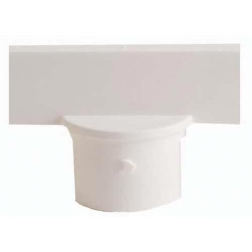 "Stanchion Sign Adapter - 3"" White"