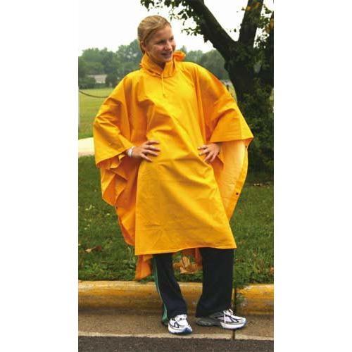 Heavy-Duty Rain Poncho - Yellow