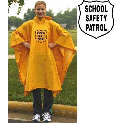 Heavy-Duty Rain Poncho - Yellow w/ Emblem