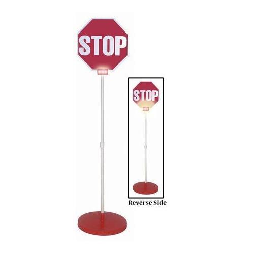 Stop/Stop Sign & Base w/ Lights
