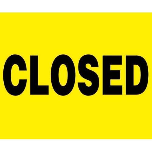 "24"" x 18"" Barricade Sign - Closed"