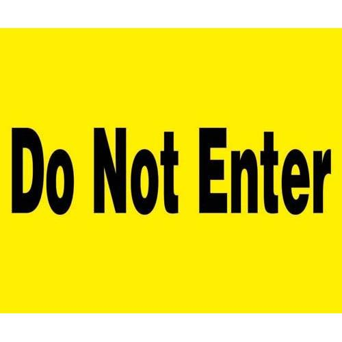 "24"" x 18"" Barricade Sign - DO NOT ENTER"