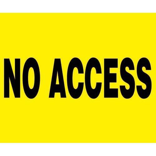 """24"""" x 18"""" Barricade Sign - NO ACCESS"""