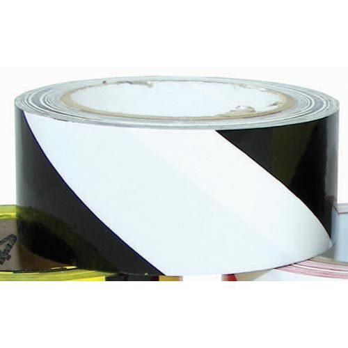 "2"" x 36 Yards Vinyl Tape - Black/White Striped"