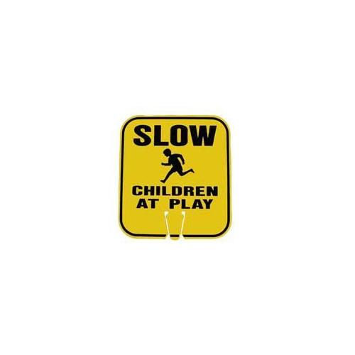 Large Snap-On Cone Sign - SLOW, CHILDREN AT PLAY
