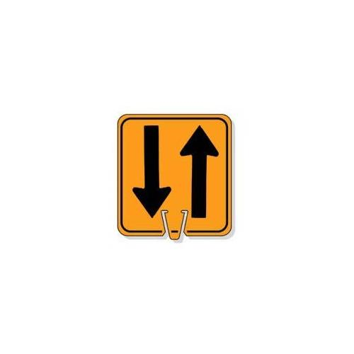 Large Snap-On Cone Sign - Two-Way Arrows
