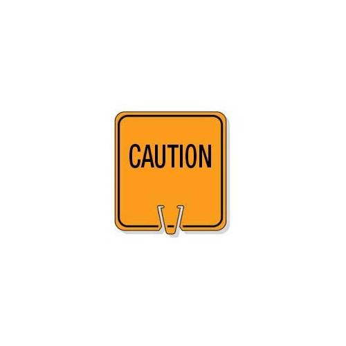 Large Snap-On Cone Sign - CAUTION