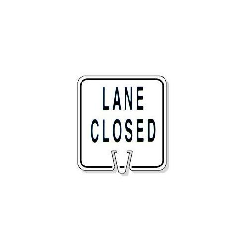 Large Snap-On Cone Sign - LANE Closed