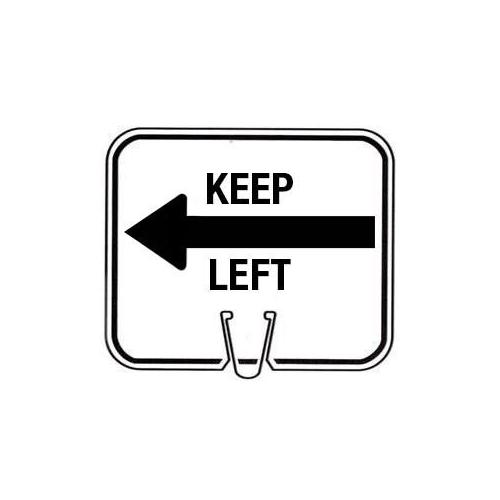 Snap-On Cone Sign - KEEP LEFT