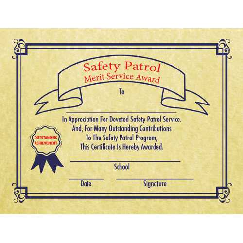 Safety Patrol Merit Service Award