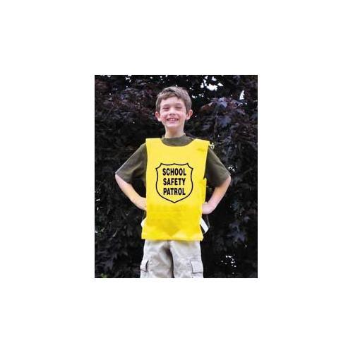 Nylon Pinnie (Yellow) w/ Safety Patrol Emblem