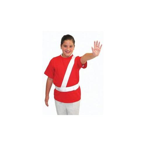 White Safety Patrol Belt - Large
