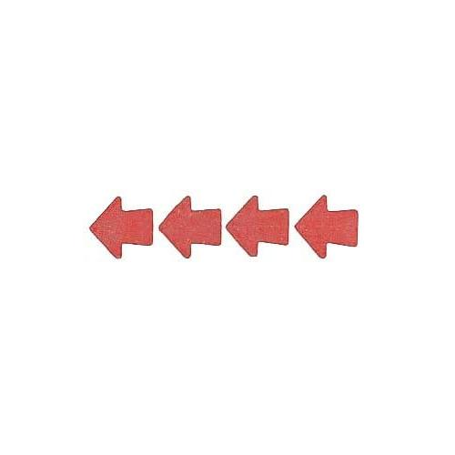 Roll of 100 Adhesive Arrows - Red