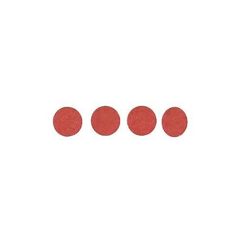 Roll of 100 Adhesive Circles - Red