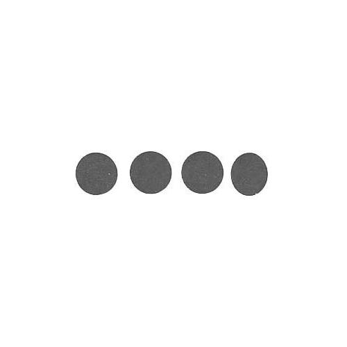 Roll of 100 Adhesive Circles - Black