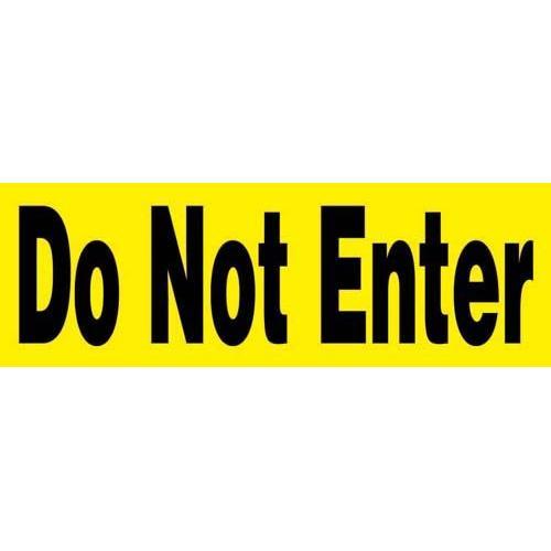 "24"" x 8"" Barricade Sign - DO NOT ENTER"