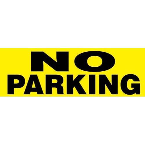 """24"""" x 8"""" Barricade Sign - NO PARKING"""