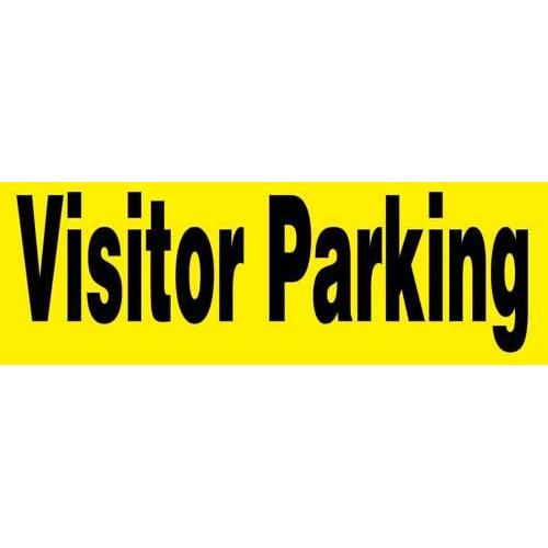 """24"""" x 8"""" Barricade Sign - VISITOR PARKING"""