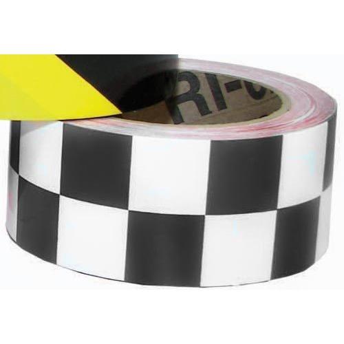 "2"" x 36 Yards Vinyl Tape - Black/White Checkered"