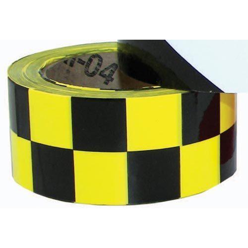 """2"""" x 36 Yards Vinyl Tape - Black/Yellow Checkered"""
