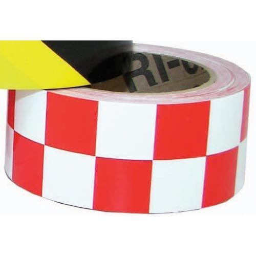 """2"""" x 36 Yards Vinyl Tape - Red/White Checkered"""