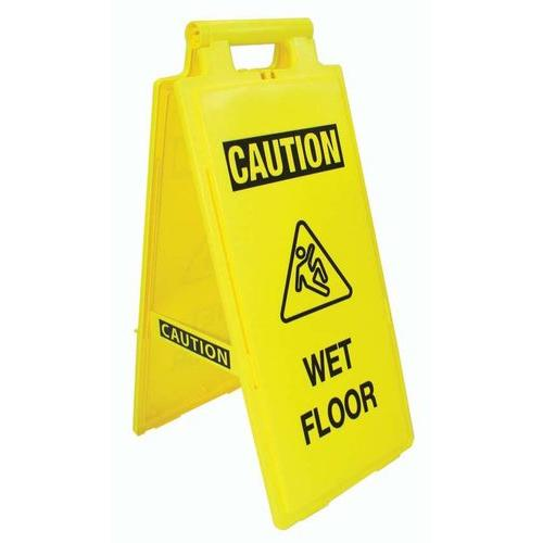 Fold-Up Floor Sign - Caution, Wet Floor