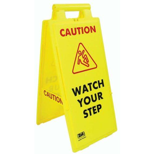Fold-Up Floor Sign - Caution, Watch Your Step