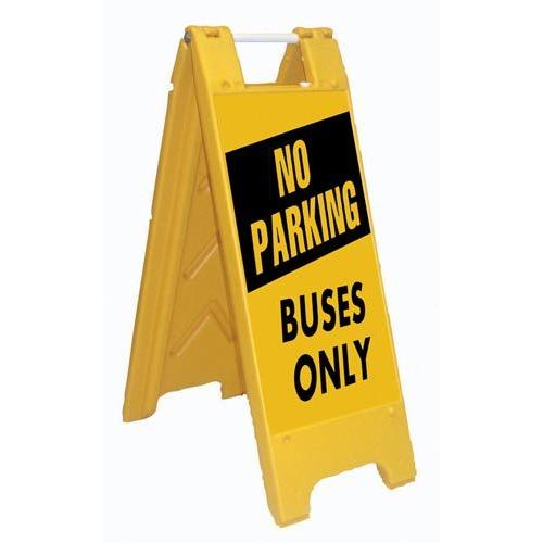 Fold-Up Sign - No Parking, Buses Only