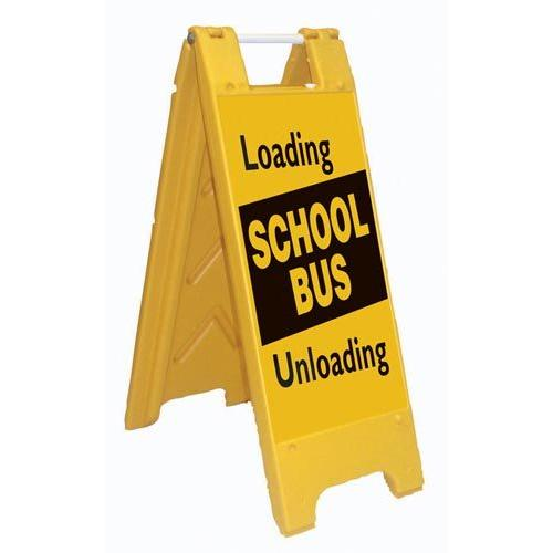 Fold-Up Sign - Loading/Unloading