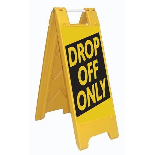 Fold-Up Sign - Drop Off Only