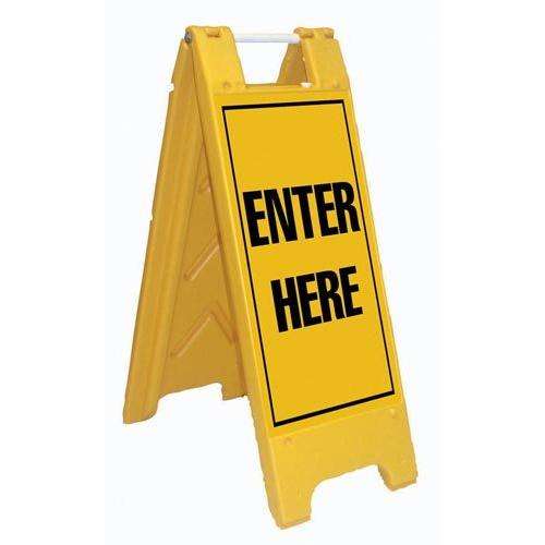Fold-Up Sign - Enter Here
